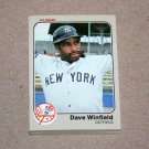 1983 FLEER BASEBALL - New York Yankees Team Set