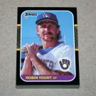 1987 DONRUSS BASEBALL - Milwaukee Brewers Team Set