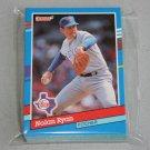 1991 DONRUSS BASEBALL - Texas Rangers Team Set