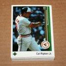 1989 UPPER DECK BASEBALL - Baltimore Orioles Team Set + High Number Series