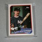 1989 TOPPS BASEBALL - New York Yankees Team Set + Traded Series