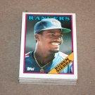 1988 TOPPS BASEBALL - Texas Rangers Team Set + Traded Series