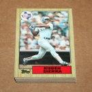 1987 TOPPS BASEBALL - Texas Rangers Team Set