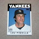 1986 TOPPS BASEBALL - New York Yankees Team Set (Traded Series Only)