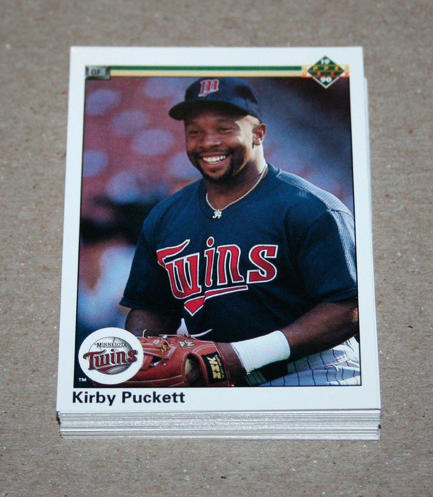 1990 UPPER DECK BASEBALL - Minnesota Twins Team Set + High Number Series
