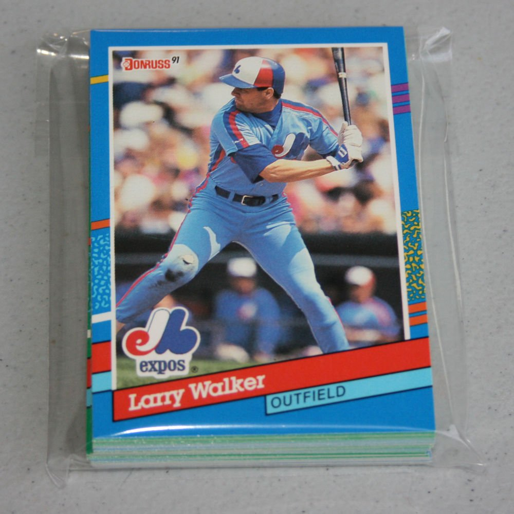 1991 DONRUSS BASEBALL - Montreal Expos Team Set