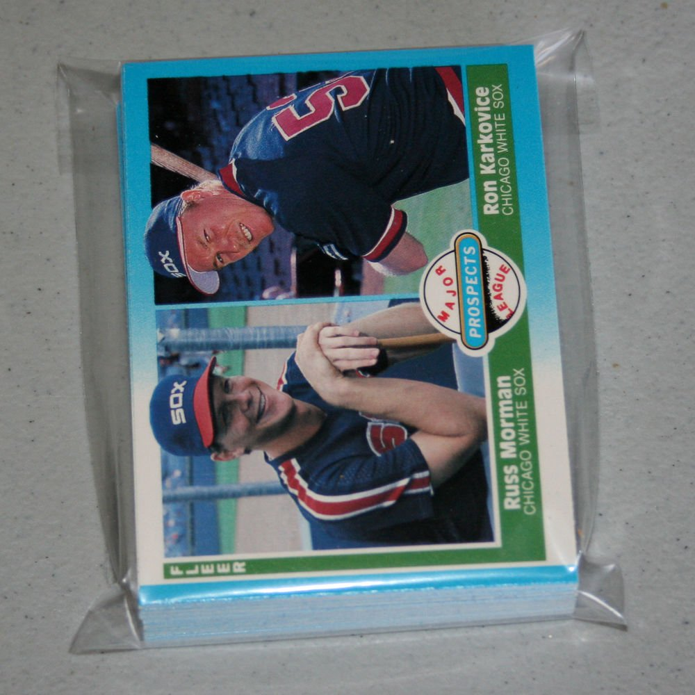 1987 FLEER BASEBALL - Chicago White Sox Team Set + Update Series