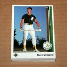 1989 UPPER DECK BASEBALL - Oakland Athletics Team Set + High Number Series