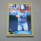 1987 TOPPS BASEBALL - Montreal Expos Team Set + Traded Series