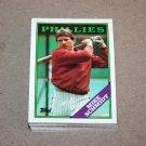 1988 TOPPS BASEBALL - Philadelphia Phillies Team Set + Traded Series