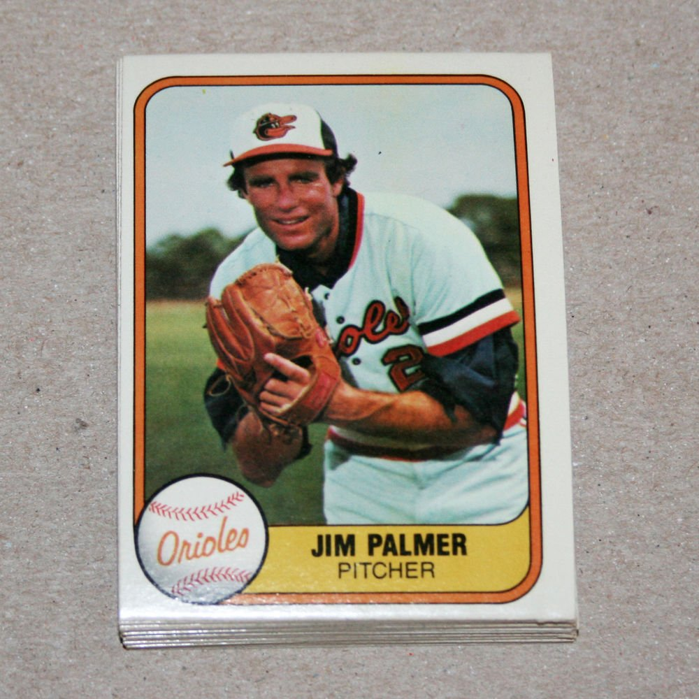 1981 FLEER BASEBALL - Baltimore Orioles Team Set
