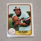 1981 FLEER BASEBALL - Baltimore Orioles Team Set