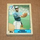 1987 TOPPS BASEBALL - Toronto Blue Jays Team Set + Traded Series