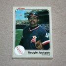 1983 FLEER BASEBALL - California Angels Team Set