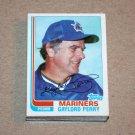 1982 TOPPS BASEBALL - Seattle Mariners Team Set + Traded Series
