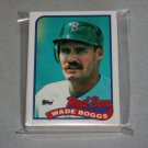 1989 TOPPS BASEBALL - Boston Red Sox Team Set + Traded Series