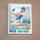 1982 TOPPS BASEBALL - Texas Rangers Team Set + Traded Series