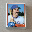 1981 TOPPS BASEBALL - New York Mets Team Set + Traded Series