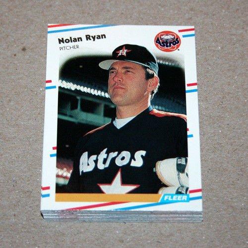 1988 FLEER BASEBALL - Houston Astros Team Set