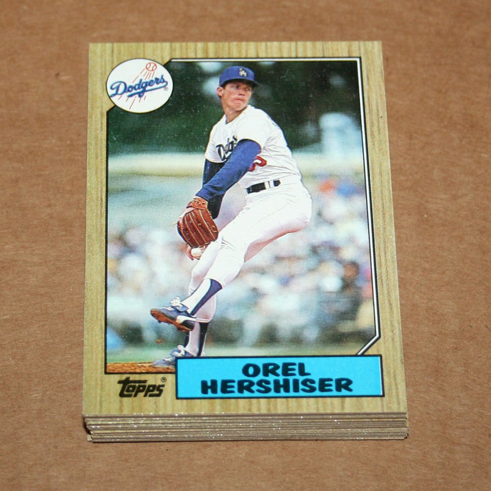 1987 TOPPS BASEBALL - Los Angeles Dodgers Team Set + Traded Series