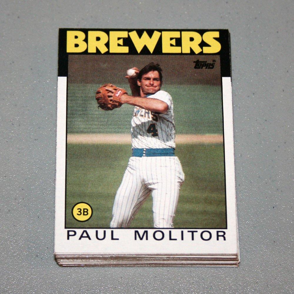 1986 TOPPS BASEBALL - Milwaukee Brewers Team Set + Traded Series