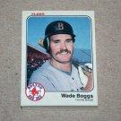 1983 FLEER BASEBALL - Boston Red Sox Team Set