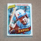 1980 TOPPS BASEBALL - Montreal Expos Team Set