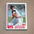1982 TOPPS BASEBALL - Cleveland Indians Team Set + Traded Series