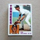 1984 TOPPS BASEBALL - New York Yankees Team Set + Traded Series