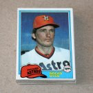 1981 TOPPS BASEBALL - Houston Astros Team Set + Traded Series