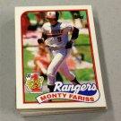 1989 TOPPS BASEBALL - Texas Rangers Team Set