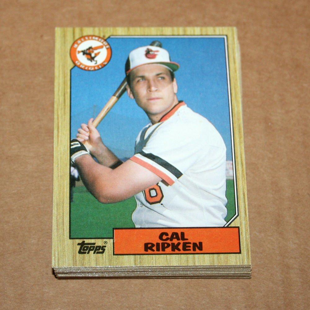 1987 TOPPS BASEBALL - Baltimore Orioles Team Set + Traded Series