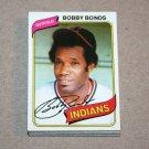 1980 TOPPS BASEBALL - Cleveland Indians Team Set