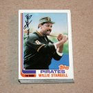 1982 TOPPS BASEBALL - Pittsburgh Pirates Team Set + Traded Series
