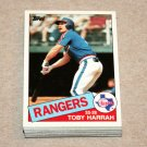 1985 TOPPS BASEBALL - Texas Rangers Team Set + Traded Series