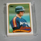 1989 TOPPS BASEBALL - Houston Astros Team Set