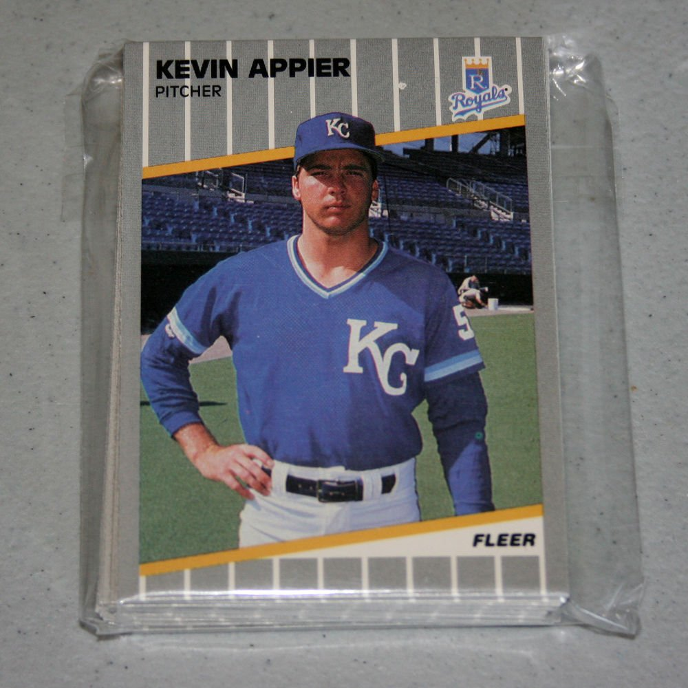 1989 FLEER BASEBALL - Kansas City Royals Team Set + Update Series