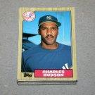 1987 TOPPS BASEBALL - New York Yankees Team Set + Traded Series