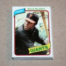 1980 TOPPS BASEBALL - San Francisco Giants Team Set