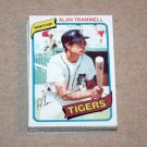 1980 TOPPS BASEBALL - Detroit Tigers Team Set