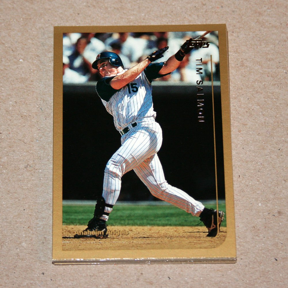 1999 TOPPS BASEBALL - Anaheim Angels True Team Set with Traded Series