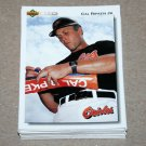1992 UPPER DECK BASEBALL - Baltimore Orioles Team Set + High Number Series