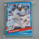 1991 DONRUSS BASEBALL - Toronto Blue Jays Team Set