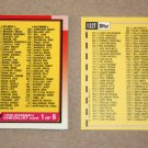 1990 TOPPS BASEBALL - Checklist Set + Traded Series