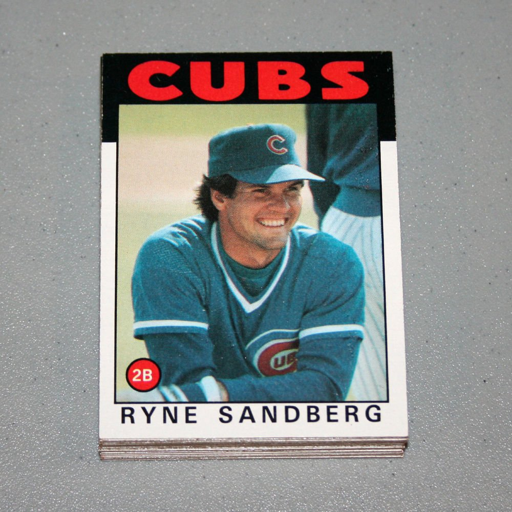 1986 TOPPS BASEBALL - Chicago Cubs Team Set + Traded Series