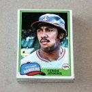 1981 TOPPS BASEBALL - Texas Rangers Team Set + Traded Series