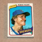 1980 TOPPS BASEBALL - Milwaukee Brewers Team Set