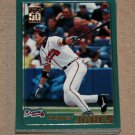 2001 TOPPS BASEBALL - Atlanta Braves Team Set (Series 1 & 2)