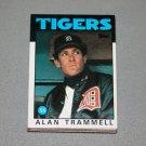 1986 TOPPS BASEBALL - Detroit Tigers Team Set + Traded Series