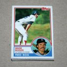 1983 TOPPS BASEBALL - Boston Red Sox Team Set + Traded Series